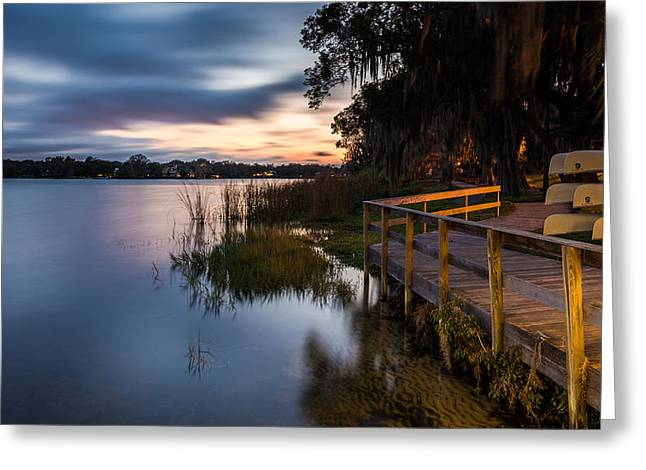Outdoor Photography Digital Greeting Cards - Goodnight Canoes Greeting Card by Clay Townsend