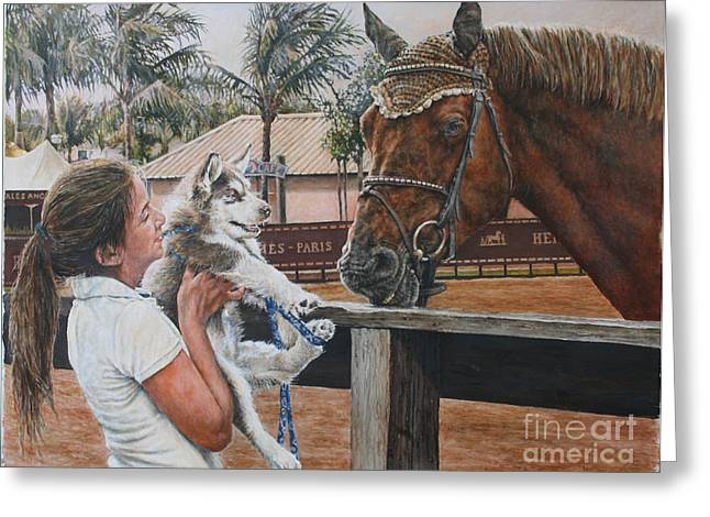 Showjumping Greeting Cards - Goodnight. Greeting Card by David McEwen