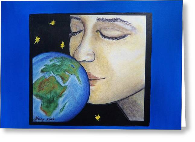 Global Awareness Greeting Cards - Goodnight Kiss Greeting Card by Stacy Ollmann