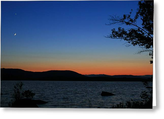 Landscape Photograph Greeting Cards - Goodnight Moon  Greeting Card by Neal  Eslinger