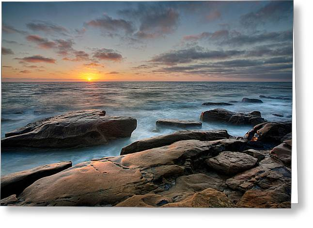 Tide Pools Greeting Cards - Goodnight WindNSea Greeting Card by Peter Tellone