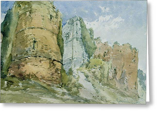 Hereford Greeting Cards - Goodrich Castle Greeting Card by William Callow