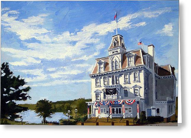 Saybrook Greeting Cards - Goodspeed Opera House East Haddam Connecticut Greeting Card by Christine Hopkins