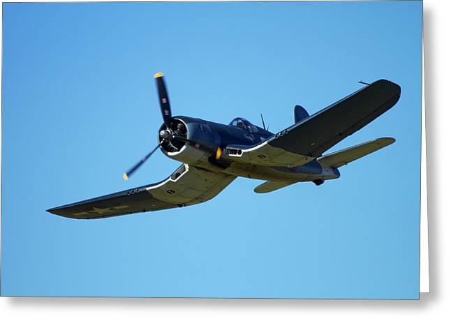 Goodyear Corsair Fg-1d  'whispering Greeting Card by David Wall