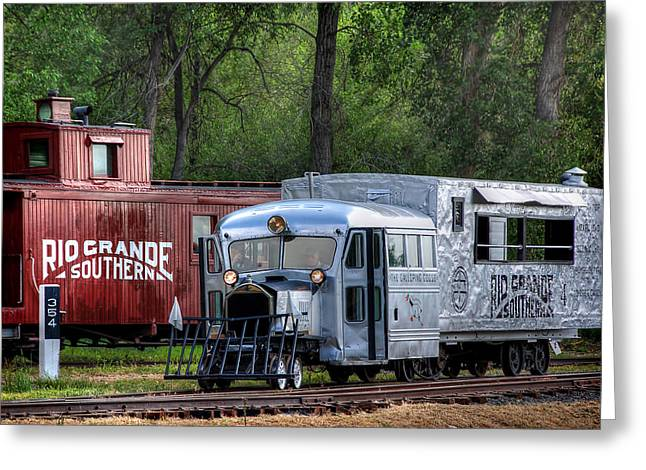 Colorado Railroad Museum Greeting Cards - Goose by the Caboose Greeting Card by Ken Smith
