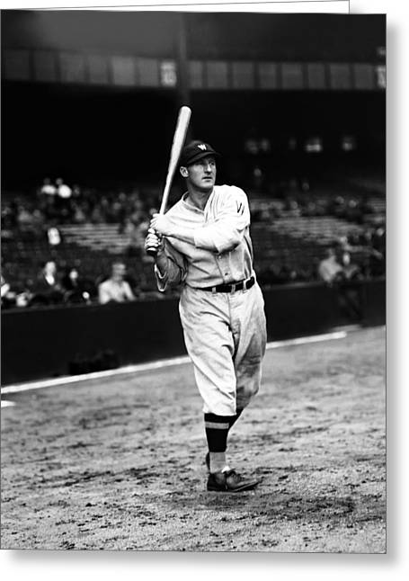 Historical Pictures Greeting Cards - Goose Goslin Back Swing Greeting Card by Retro Images Archive