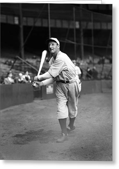 Historical Pictures Greeting Cards - Goose Goslin Big Swing Greeting Card by Retro Images Archive