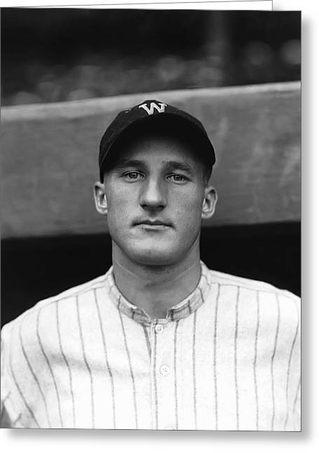 Hall Of Fame Greeting Cards - Goose Goslin Looks Toward Camera Greeting Card by Retro Images Archive