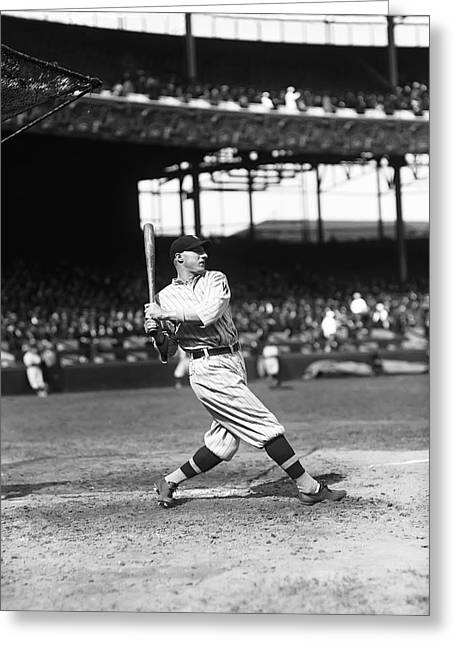 Retro Antique Greeting Cards - Goose Goslin Swings Hard Greeting Card by Retro Images Archive