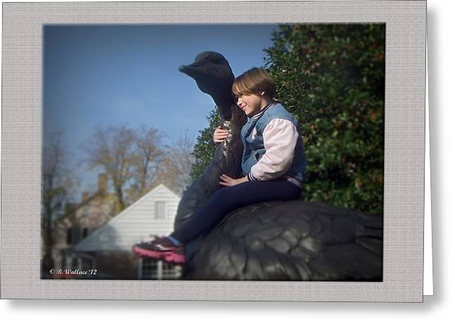 Sneeker Greeting Cards - Goose Rider Greeting Card by Brian Wallace
