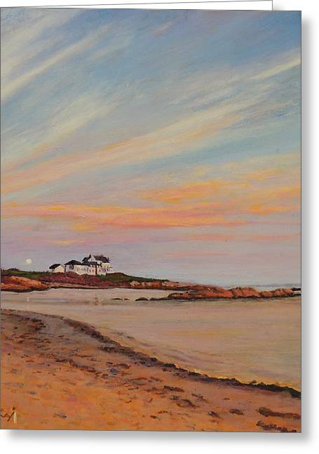 Gooseberry Beach Newport Rhode Island Greeting Card by Patty Kay Hall