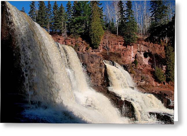 Peterson Nature Photography Greeting Cards - Gooseberry Falls Greeting Card by James Peterson