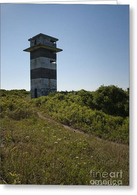 Recon Greeting Cards - Gooseberry Island Tower Greeting Card by David Gordon