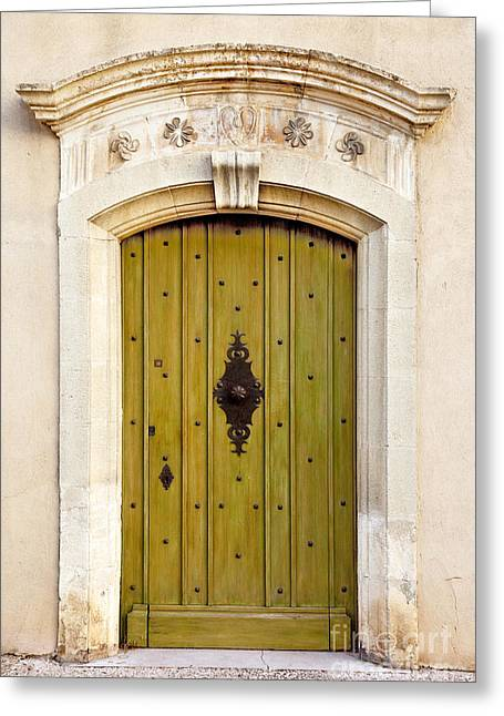 Entryway Greeting Cards - Gordes Door Greeting Card by Brian Jannsen