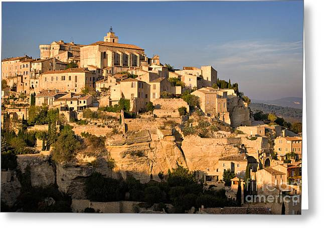 Medieval Village Greeting Cards - Gordes Greeting Card by Louise Heusinkveld