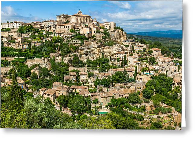 Provence Village Greeting Cards - Gordes Village Greeting Card by Alex Zabo