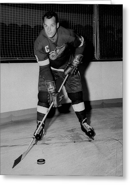 Detroit Legends Greeting Cards - Gordie Howe Poster Greeting Card by Gianfranco Weiss