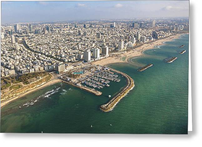 Ofir Ben Tov Greeting Cards - Gordon Beach, Tel Aviv Greeting Card by Ofir Ben Tov