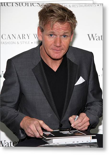 Jez C Self Greeting Cards - Gordon Ramsay  6 Greeting Card by Jez C Self