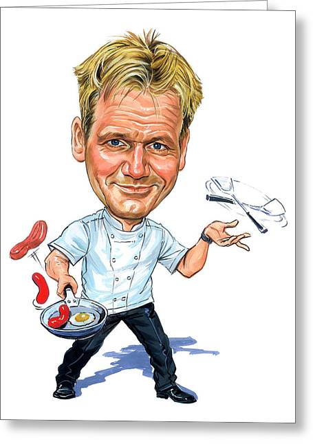 Gordon Ramsay Greeting Card by Art
