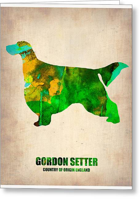 Setters Greeting Cards - Gordon Setter Poster 2 Greeting Card by Naxart Studio