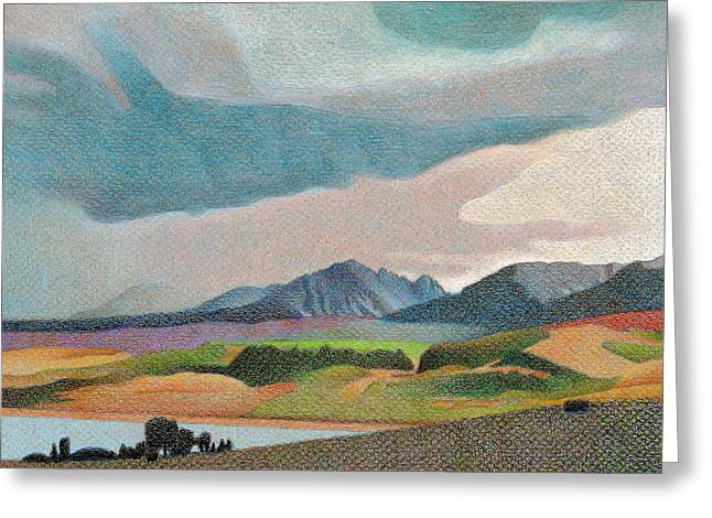 Thunderstorm Drawings Greeting Cards - Gore Range Thunderstorm Greeting Card by Dan Miller