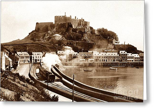 Gorey Greeting Cards - Gorey Railway Station Jersey  Greeting Card by The Keasbury-Gordon Photograph Archive