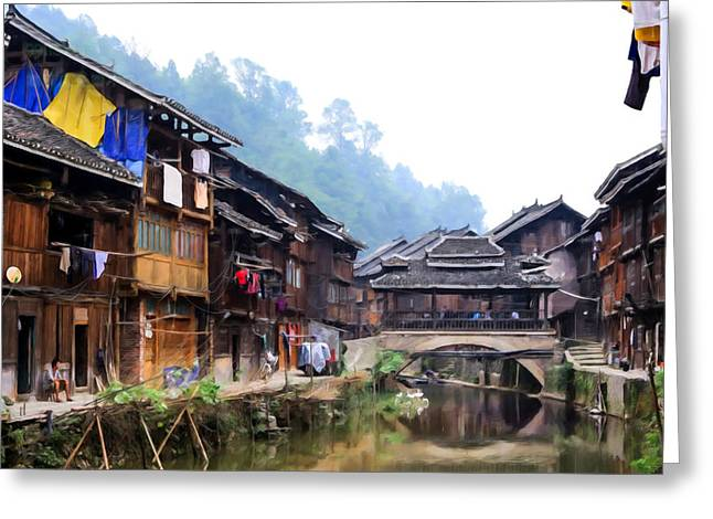 Culture Greeting Cards - Gorgeous Dong Village 3 Greeting Card by Lanjee Chee