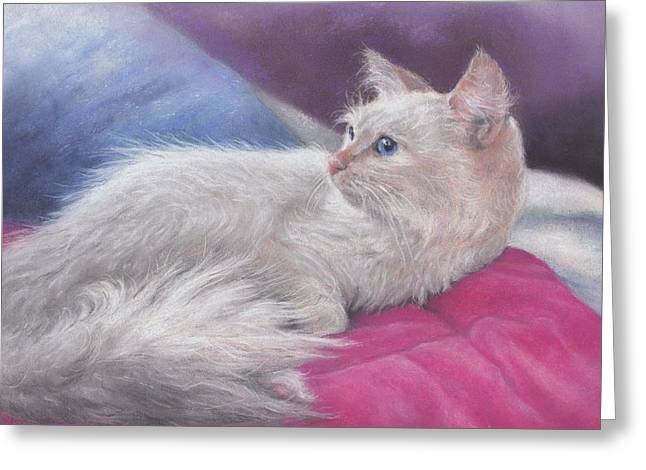 Rescue Pastels Greeting Cards - Gorgeous Gemma Greeting Card by Pamela Humbargar
