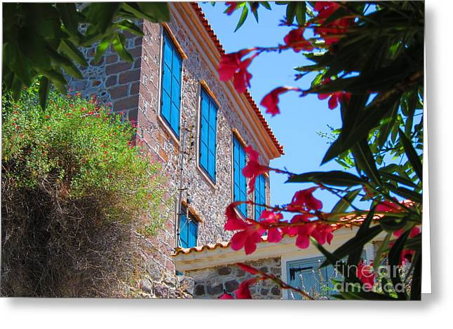 Lesvos Greeting Cards - Gorgeous Island Residence Greeting Card by Andreas Thust