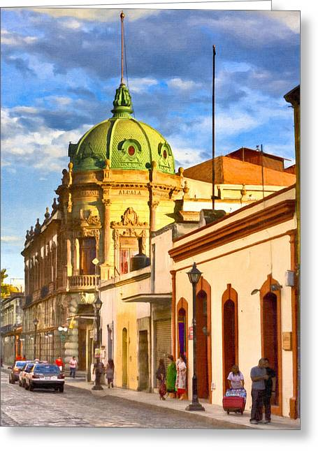 Gorgeous Streets Of Oaxaca Mexico Greeting Card by Mark E Tisdale