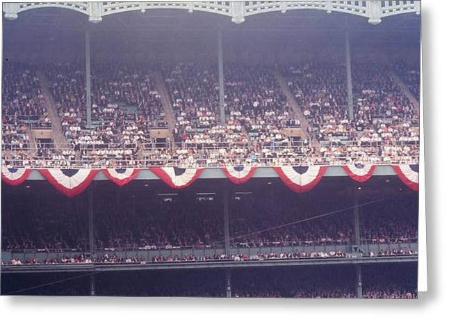 Gorgeous View Of Old Yankee Stadium Greeting Card by Retro Images Archive
