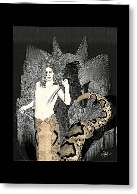 Medusa Greeting Cards - Male Medusa  Greeting Card by Joaquin Abella