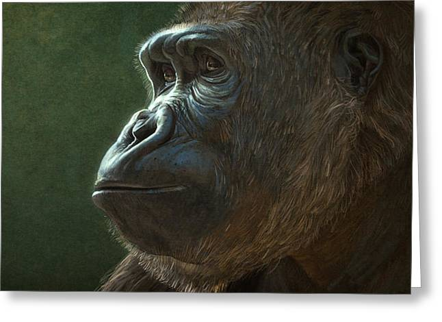 Primates Greeting Cards - Gorilla Greeting Card by Aaron Blaise