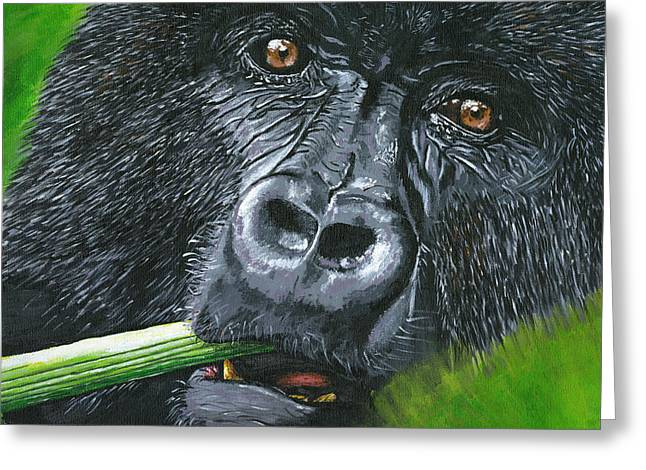Love The Animal Greeting Cards - Gorilla Greeting Card by Lovejoy Creations