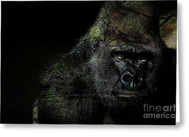 Gorilla Greeting Card by Marvin Blaine