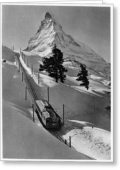 Gornergrat Rack Railway Greeting Card by Cci Archives