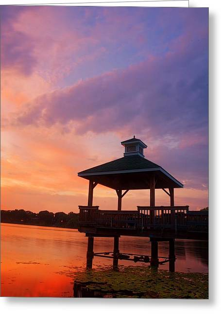 Road Picture Greeting Cards - Gorton Pond Beauty Warwick Rhode Island Greeting Card by Lourry Legarde