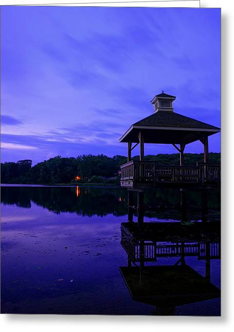 Road Picture Greeting Cards - Gorton Pond Rhode Island Greeting Card by Lourry Legarde
