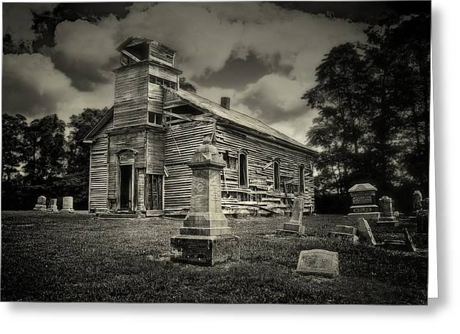 Gravestones Greeting Cards - Gospel Center Church II Greeting Card by Tom Mc Nemar