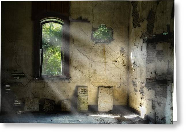 Abandoned Greeting Cards - Gospel Center Church Interior Greeting Card by Tom Mc Nemar