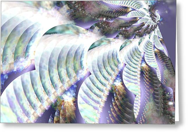 Cs5 Greeting Cards - Gossamer Flight of the Goddess Greeting Card by Rebecca Phillips