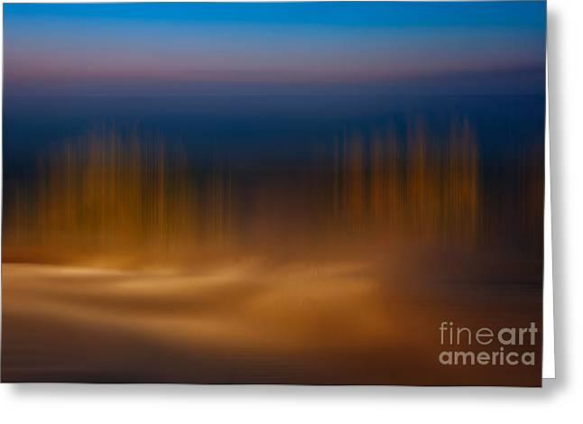 Gossamer Sands - A Tranquil Moments Landscape Greeting Card by Dan Carmichael