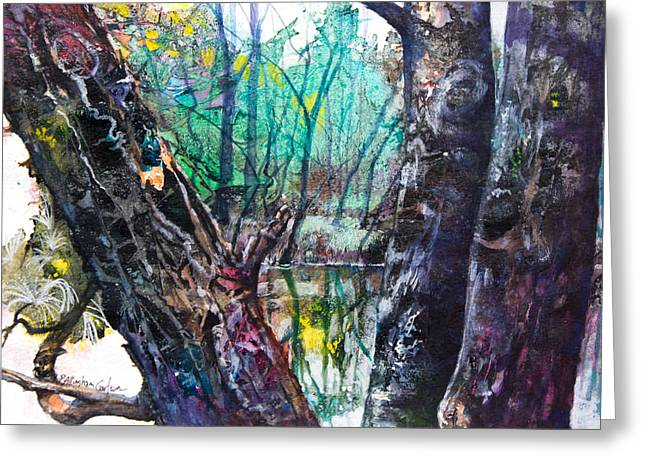 Hike Mixed Media Greeting Cards - Gossip by the River Greeting Card by Patricia Allingham Carlson
