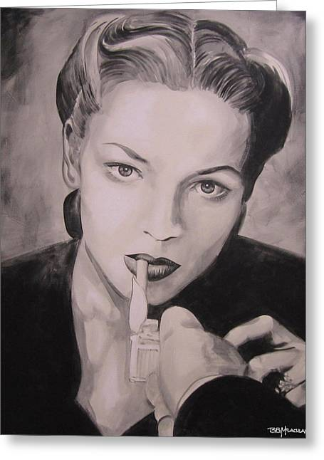 Lauren Bacall Greeting Cards - Got a light Greeting Card by Bruce McLachlan
