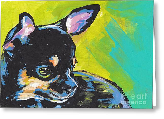 Chihuahua Portraits Greeting Cards - Got Chi? Greeting Card by Lea