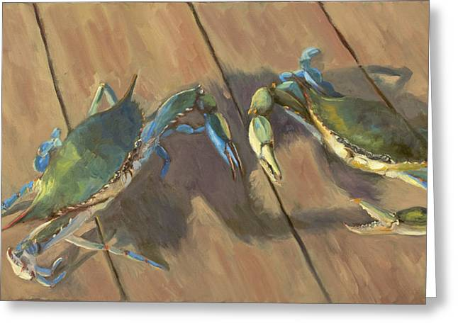 Blue Crab Greeting Cards - Got Crabs II Greeting Card by John Albrecht