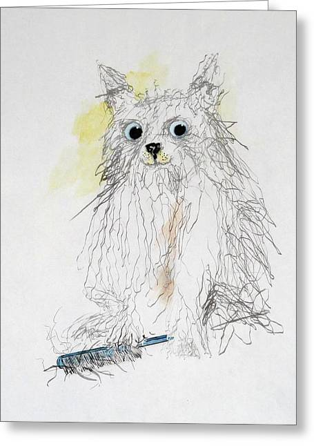 Featured Art Greeting Cards - Got Matts Greeting Card by Michael Dillon