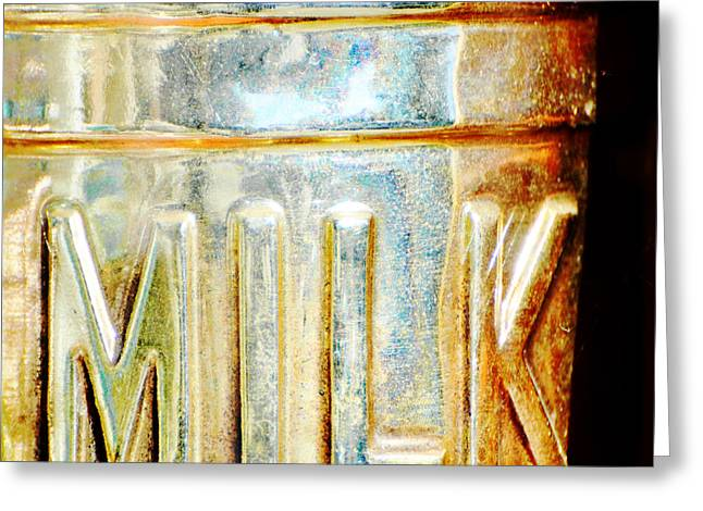 Chrome Mixed Media Greeting Cards - Got Milk - Vintage Milk Sign Art Greeting Card by AdSpice Studios
