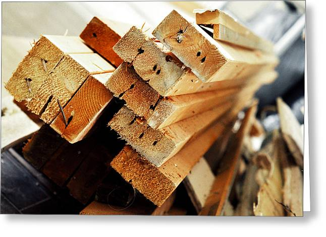 Get Greeting Cards - Got Wood Lumber Stack Greeting Card by Rebecca Brittain